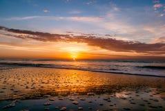 Costa costa la Argentina de la salida del sol Imagenes de archivo