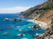 Costa costa a lo largo de la carretera 1, Big Sur Imagen de archivo