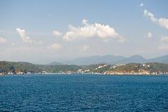 Costa costa México de Huatulco Imagenes de archivo