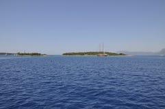 Costa costa mediterránea Foto de archivo libre de regalías