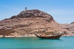 Costa costa omaní fotografía de archivo