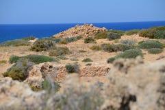 Costa costa, Paphos, Chipre Imagen de archivo libre de regalías