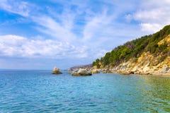 Costa costa rocosa Fotografía de archivo libre de regalías