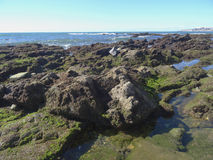 Costa costa rocosa Foto de archivo libre de regalías