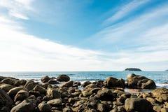 Costa costa rocosa Fotografía de archivo