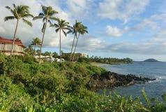 Costa costa rocosa de Maui fotos de archivo libres de regalías