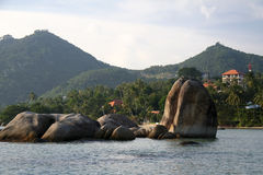 Costa costa rocosa del samui de la KOH Fotos de archivo libres de regalías