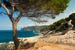Costa costa romántica Imágenes de archivo libres de regalías