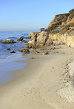Costa costa rugosa de Malibu, California, los E.E.U.U. Fotografía de archivo libre de regalías