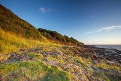 Costa costa rugosa de Somerset del norte Fotos de archivo