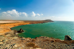 Paisaje del océano en el La Guajira Imagen de archivo libre de regalías