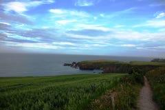 Costa costa Stonehaven, Escocia Imagen de archivo libre de regalías
