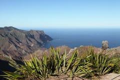 Costa costa volcánica de la bahía de Sandy en St. Helena Imagenes de archivo