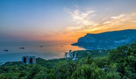 Costa costa Crimea de la bahía de Laspi Fotografía de archivo libre de regalías