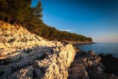 Costa croata Fotos de archivo libres de regalías