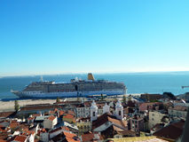 Costa cruise. In Lisboa port, Portugal Stock Image