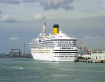 Costa cruise ship Costa Concordia. Berthed at Civitavecchia harbor Italy on Nov 5, 2006 stock photo