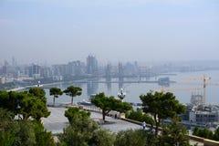 Costa Cáspio, Baku, Azerbaijão Fotos de Stock