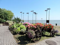 Costa da baía de Curonian, Lituânia Imagens de Stock Royalty Free