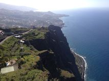 Costa da Dinamarca Madeira/do ilha do na da costela na ilha de Madeira Foto de Stock Royalty Free
