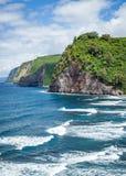 Costa da costa do Hamakua de Havaí da ilha grande de Havaí imagens de stock