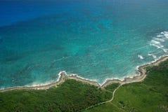Costa da ilha das Caraíbas Fotos de Stock