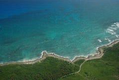 Costa da ilha das Caraíbas Imagens de Stock