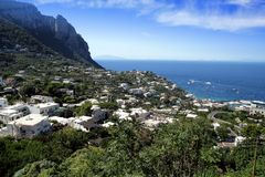 Costa da ilha de Capri Imagem de Stock Royalty Free