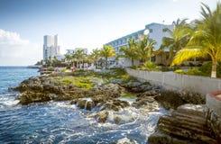 Costa da ilha de Cozumel, Quintana Roo, México fotos de stock royalty free