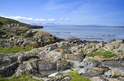 Costa da ilha de Gigha Foto de Stock