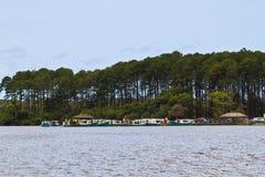 Costa da lagoa boat cross Stock Photo