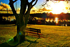 Costa da luz do sol, Austrália foto de stock