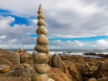 Costa da Morte in Galicia. Costa da Morte in Camelle Galicia Royalty Free Stock Photography