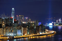 Costa da noite de Hong Kong imagem de stock royalty free