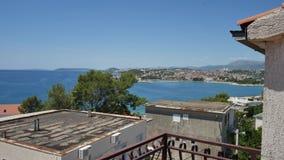 A costa da separação, Croácia Vista do terraço do hotel filme