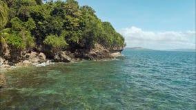 A costa das Filipinas Vistas aéreas bonitas no movimento filme
