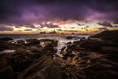 Costa das ilhas channel do jérsei foto de stock