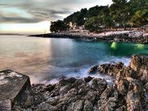 Costa de Adriatc fotografia de stock