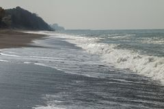 Costa de Akcakoca el Mar Negro fotos de archivo libres de regalías
