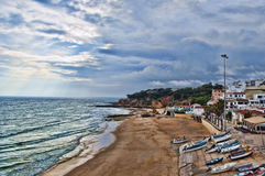 Costa de Albufeira Imagenes de archivo