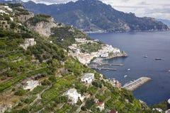 Costa de Amalfi Fotos de archivo libres de regalías