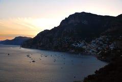 Costa de Amalfi - Italia Imagenes de archivo
