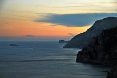 Costa de Amalfi - Italia Imágenes de archivo libres de regalías