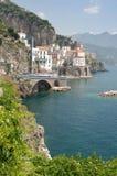 Costa de Amalfi, Italia Imagen de archivo libre de regalías