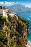 Costa de Amalfi, Italia Fotos de archivo libres de regalías