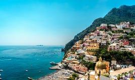 Costa de Amalfi que sorprende fotografía de archivo