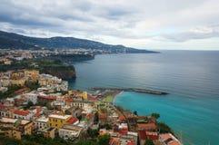 Costa de Amalfi - Sorrento Foto de archivo libre de regalías