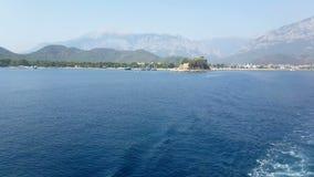 Costa de Antalya Visión desde el mar almacen de video