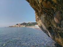 Costa costa de Arma di Taggia fotografía de archivo libre de regalías