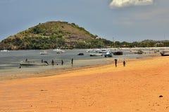 Costa de Atmosfer da ilha de turista, Madagáscar Foto de Stock Royalty Free